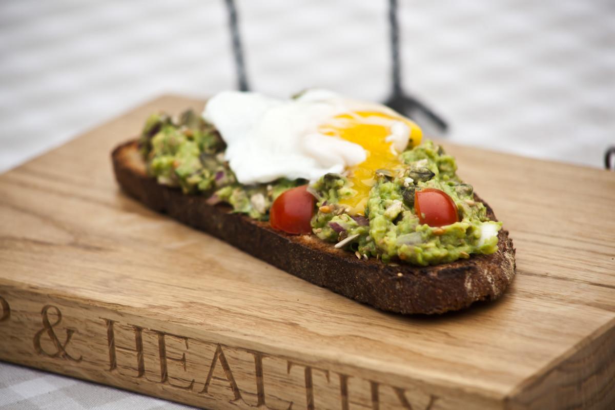 Healthy Breakfast Recipe Eggs And Avocado On Toast