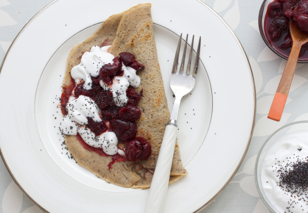 Buckwheat and poppy seed pancakes 1