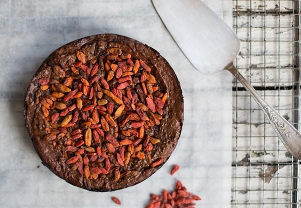 healthy chocolate fudge cake