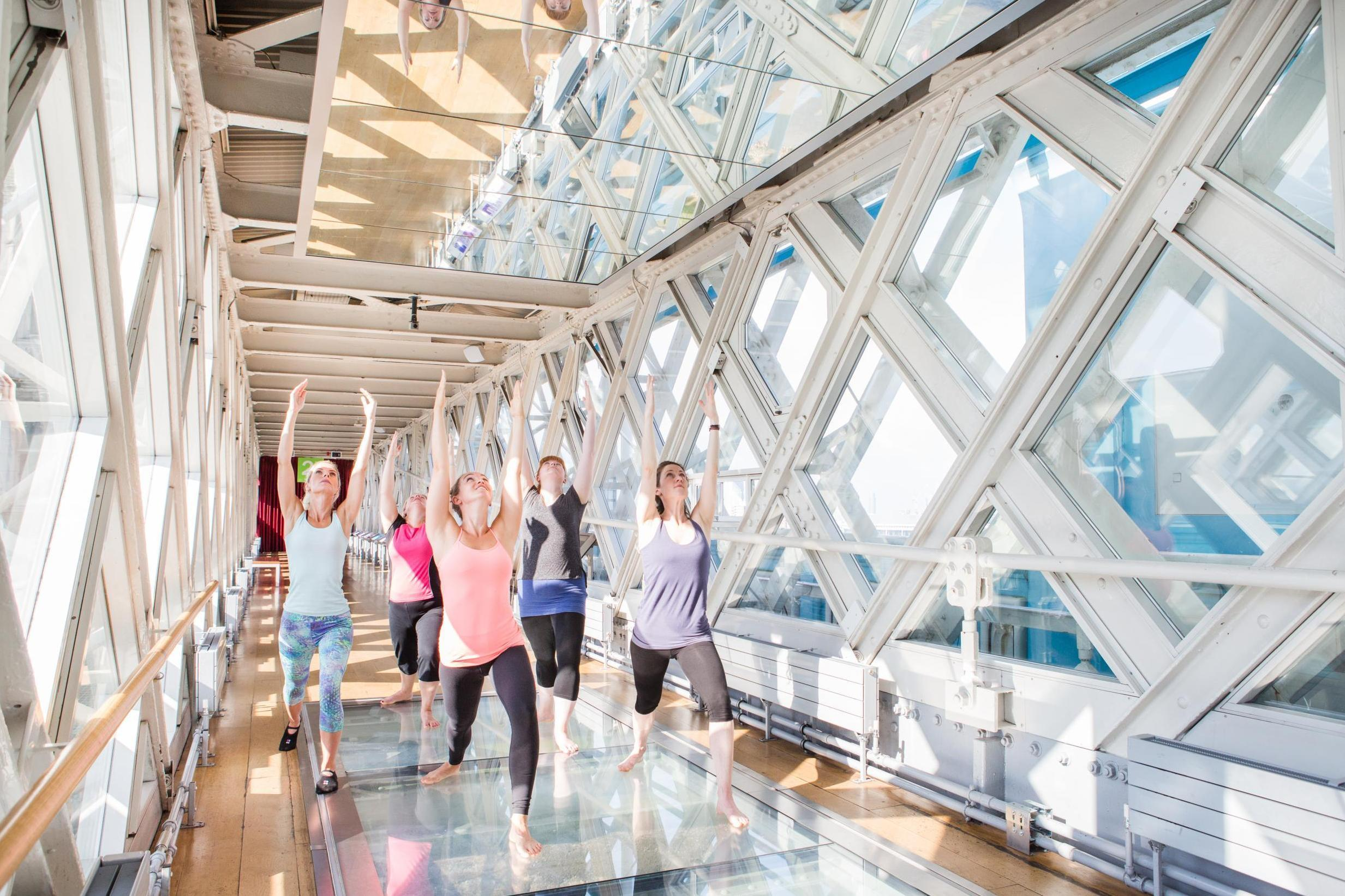 yoga tower bridge