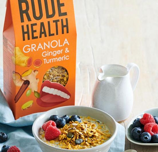 Rude Health Ginger and Turmeric Granola