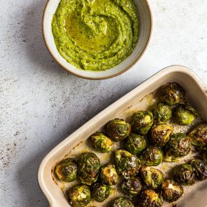 Vegan Pesto Sprouts