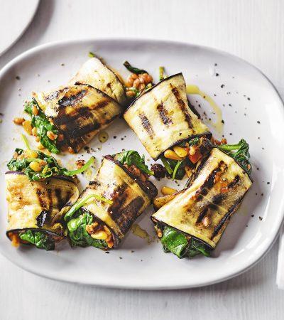aubergine rolls