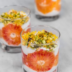 Blood Orange and Coconut Vegan Mousse