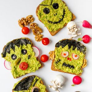 Halloween Avocado Toast