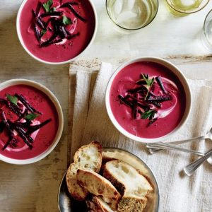 Beet, Ginger & Coconut Milk Soup
