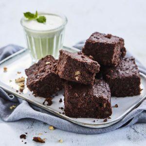 Walnut Mint Brownies