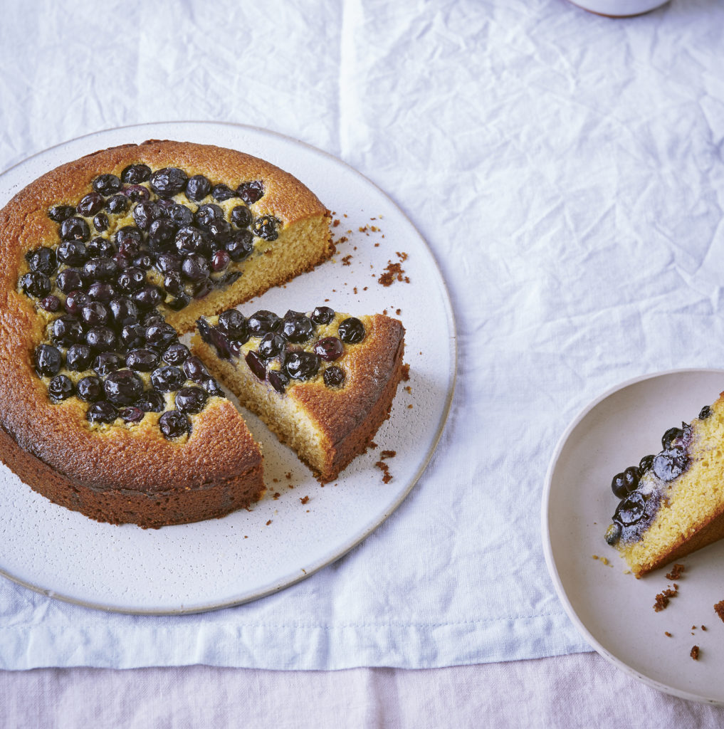 Blueberry and honey cornbread