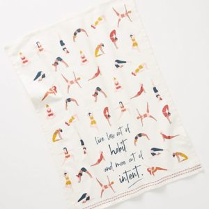 yoga tea towel