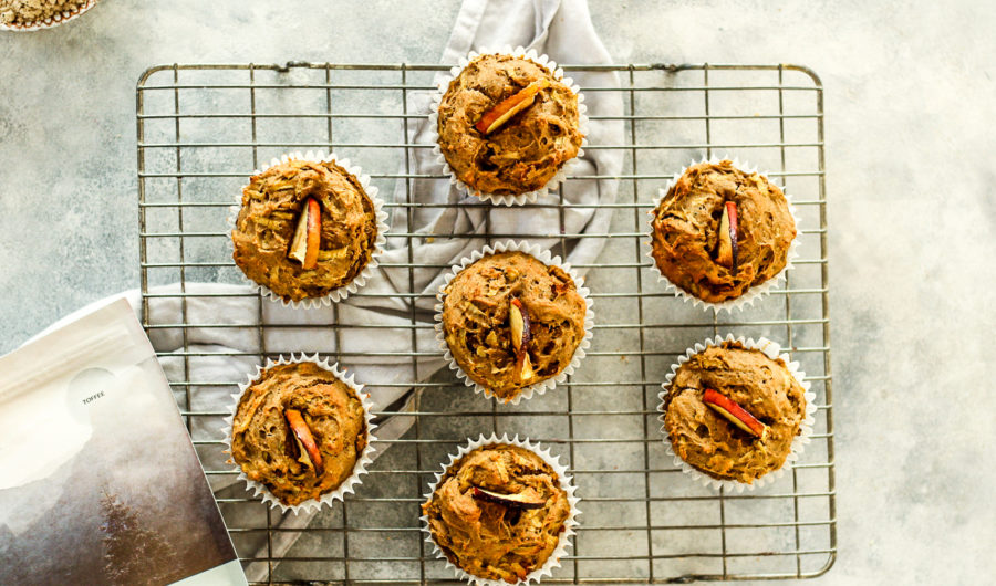 Toffee Apple Protein Muffins
