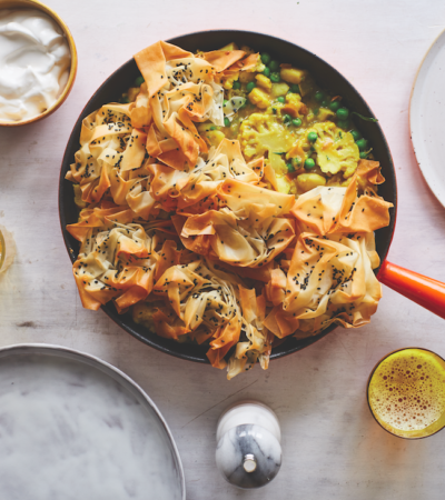 Vegan Frying Pan Samosa Pie