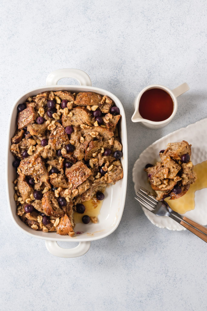 Blueberry Cinnamon French Toast Bake