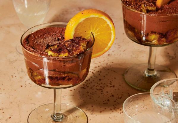 Vegan Chocolate Orange & Amaretto Mousse